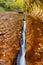 Stock Image : De erosie van het water, linkervork van de Rivier van de Kreek van het Noorden
