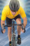 Stock Image : De fietser van de weg