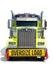 Stock Image :  De la CARGA de la muestra camión DE GRAN TAMAÑO del tractor semi aislado