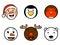Stock Image : De leuke Pictogrammen van het Kerstmisgezicht