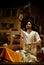 Stock Image : De Rivier Puja Ceremony, Varanasi India van Ganges