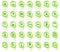 Stock Image : De spelden van de kaart met beelden