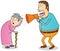 Stock Image : Deaf grandma