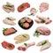Stock Image : Dechado del producto de carne sin procesar
