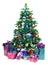 Stock Image : Decorated Christmas tree