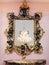 Stock Image :  Decoratief gouden spiegelkader