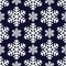Stock Image : Decorative abstract snowflake. Seamless