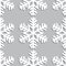 Stock Image : Decorative abstract snowflake. Seamless