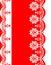 Stock Image : Decorative Border red-white