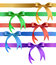 Stock Image : Decorative bow in various colors