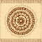 Stock Image : Decorative circle card background