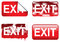 Stock Image : Decorative Exit Signs