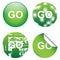 Stock Image : Decorative GO Signs