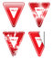 Stock Image : Decorative Red Yield Signs