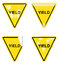 Stock Image : Decorative Yield Signs