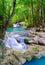 Stock Image : Deep forest Waterfall in Kanchanaburi, Thailand