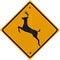 Stock Image : Deer Crossing Sign