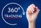 Stock Image : 360 Degrees Training