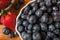 Stock Image : Delicious succulent blueberries