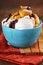 Stock Image : Delicious Vanilla Ice Cream with Apple Cranberry Crisp