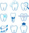 Dental icons vector