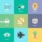 Stock Image : Design product development flat icons