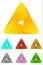 Stock Image : Design triangle logo element.