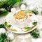 Stock Image : Dessert for Christmas