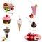 Stock Image : Dessert Collage