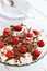 Stock Image : Dessert with strawberries, chocolate, cottage cheese and