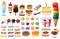 Stock Image :  Dessertinzameling
