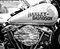 Stock Image : Detail of the motorcycle Harley-Davidson (Black and White)