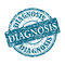 Diagnosis grunge rubber stamp