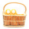 Stock Image : Diapers milk bottle and flask in basket
