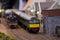 Stock Image : Diesel electric model railway train engine