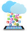 Stock Image : Digital tablet pc with app icons