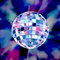 Stock Image : Disco ball colorful party background