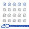 Stock Image : Documents Icons - Set 1 of 2 // Line Series