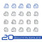 Stock Image : Documents Icons - Set 2 of 2 // Line Series