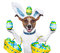 Stock Image : Dog easter bunny