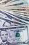 Stock Image : Dollars bills on white background
