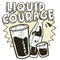 Stock Image : Liquid courage alcohol sketch