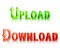 Stock Image : Download and upload icons.