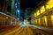 Stock Image : Downtown Hong Kong at night