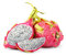Stock Image : Dragon fruit or pitaya with cut on white