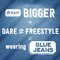 Stock Image : Dream bigger, dare to freestyle, wearing blue jeans,  Quote Typographic Background
