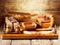Stock Image :  Drewniani kuchenni naczynia