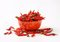Stock Image : Dried red chilies