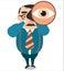 Stock Image :  Duży wzrok lider, wektor
