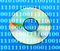 Stock Image : Dvd disc with binary numbers